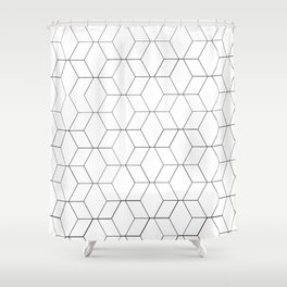 Black and white geometrics Shower Curtain