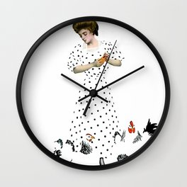 """Coles Phillips 'Fadeaway Girl' Magazine Illustration  """"Country Life"""" Wall Clock"""