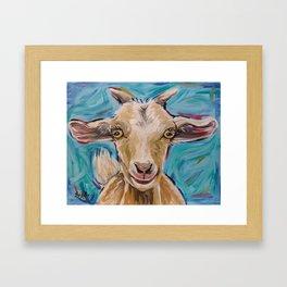Goat Art, 'Buttercup' Goat Painting Framed Art Print
