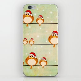 christmas birds iPhone Skin