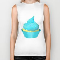 cupcake Biker Tanks featuring Cupcake by tiffato3