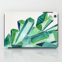 emerald iPad Cases featuring Emerald Watercolor by Cat Coquillette