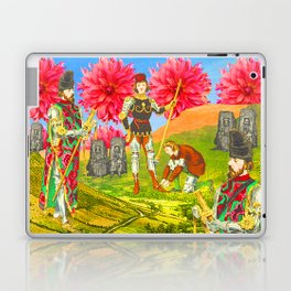 THE COLORFUL KNIGHT AND THE SEPIA BEGGARS Laptop & iPad Skin