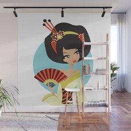 A Geishas Autumn Wall Mural