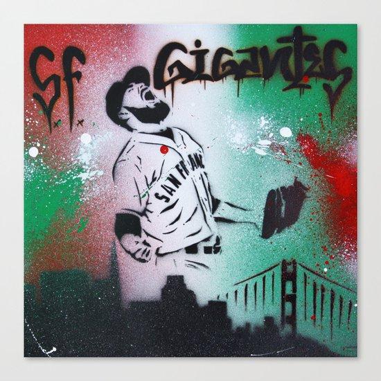 Mexican flag themed Sergio Romo SF Giants Gigantes Aerosol Stencil Art Painting Canvas Print