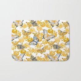 Butterflies 'n Roses Bath Mat
