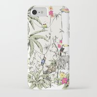 jungle iPhone & iPod Cases featuring Jungle by Annet Weelink Design
