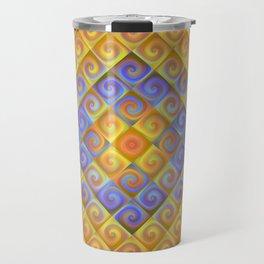 Spirals in Squares Travel Mug