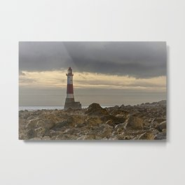 Beachy Head Lighthouse And Foreshore Metal Print