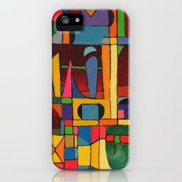 Colors In Collision 1 - Geometric Abstract of Colors that Clash iPhone Case