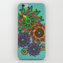 Swirls Abstract - Teal iPhone Skin