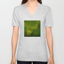 Fantasy Sci-Fi Green Galaxy Universe Unisex V-Neck