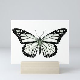 Monarch Butterfly - Pen and Ink Illustration Graphic Geometric  Mini Art Print
