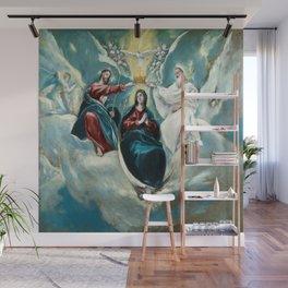 "El Greco (Domenikos Theotokopoulos) ""The Coronation of the Virgin (1592)"" Wall Mural"