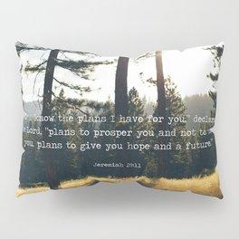 Golden Jeremiah 29:11 Pillow Sham