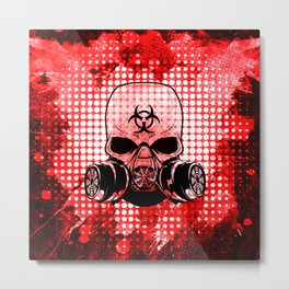 Guerrilla Bio-Hazard Warrior Metal Print