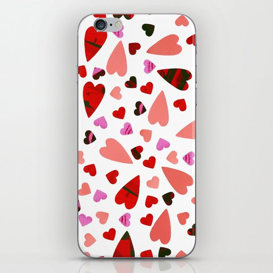 Scatter my (LOVE) Heart iPhone & iPod Skin