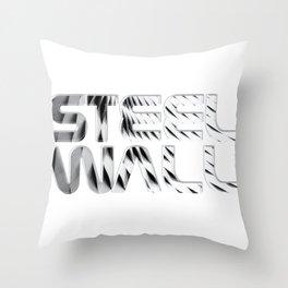 Steel Wall Throw Pillow