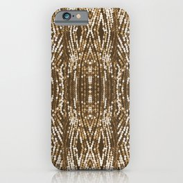 198 - Sepia gold sequins design iPhone Case