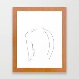 Minimal line drawing of women's body - Alex Framed Art Print