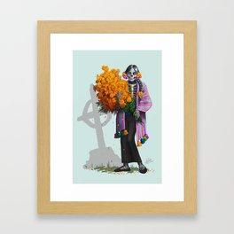 Catrina en Xochimilco Framed Art Print