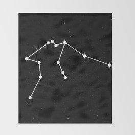 AQUARIUS (BLACK & WHITE) Throw Blanket
