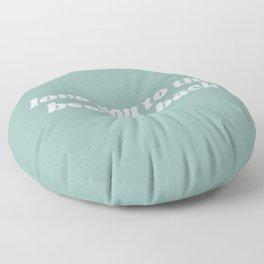 beach & back Floor Pillow