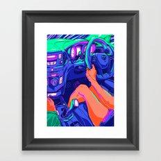Driving Framed Art Print