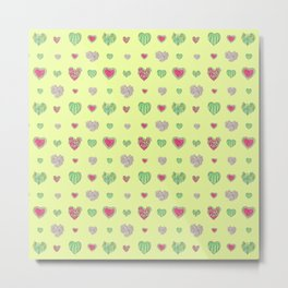 For the love of Watermelon - yellow background Metal Print