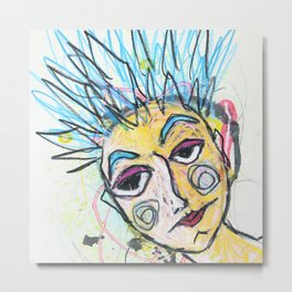 She is lonely most of the time Metal Print
