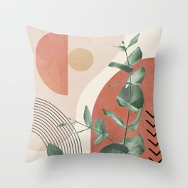 Nature Geometry IV Throw Pillow