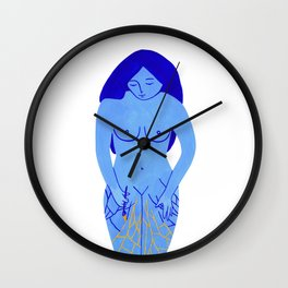 Taking care (white background) Wall Clock