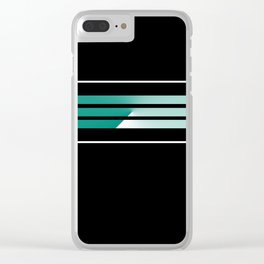 Team Colors 5....teal, black and white Clear iPhone Case