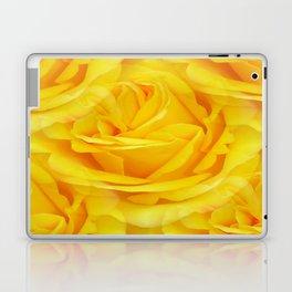 Modern Abstract Seamless Yellow Rose Petals Laptop & iPad Skin