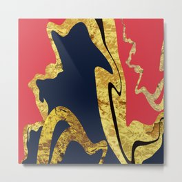 Gold Blush Metal Print