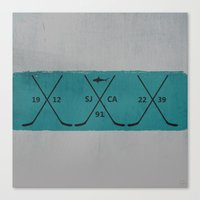 sharks Canvas Prints featuring Sharks by Last Call