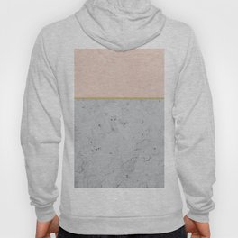Soft Peach Meets Light Gray Concrete #1 #decor #art #society6 Hoody