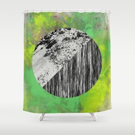 Devoid of Colour - Abstract, geometric, black and white, colour art Shower Curtain