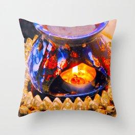 Oil Burner Throw Pillow