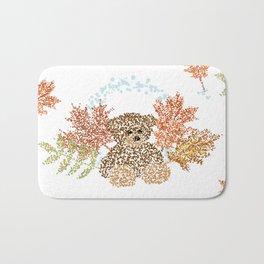 Autumn Bear Bath Mat