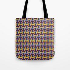 Woven Pixels V Tote Bag
