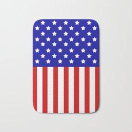 Patriotic stars and stripes Bath Mat