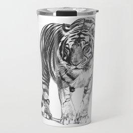 Bengal Tiger Drawing Illustration Travel Mug