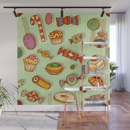 candy and pastries Wall Mural