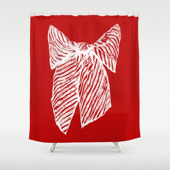White bow Shower Curtain