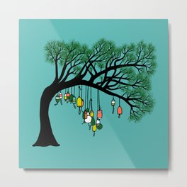 Buoy Tree by Seasons K Designs for Salty Raven Metal Print