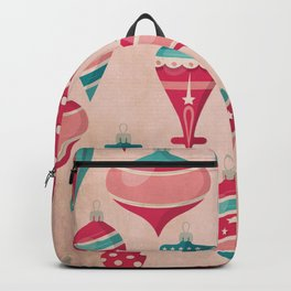 Candy Colored Christmas Ornaments Pattern Mid Century Style Backpack