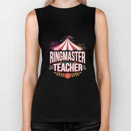 Ringmaster Teacher Circus Carnival Birthday Party Apparel Biker Tank