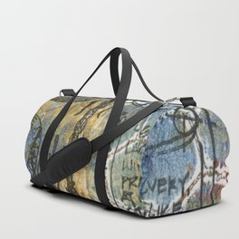 Dragon Fly Blue Duffle Bag