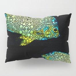 Tropical Fish Art 8 - Abstract Mosaic By Sharon Cummings Pillow Sham